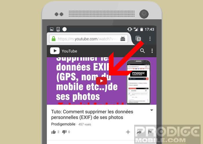 Lancer un clip de musique tout en verrouillant l'écran de son mobile