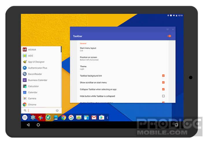 Personnaliser l'affiche de votre mobile avec un menu démarrer comme sur Windows