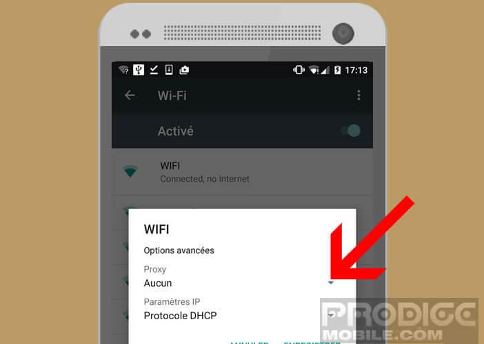Modifier les paramétrages de votre connexion wifi