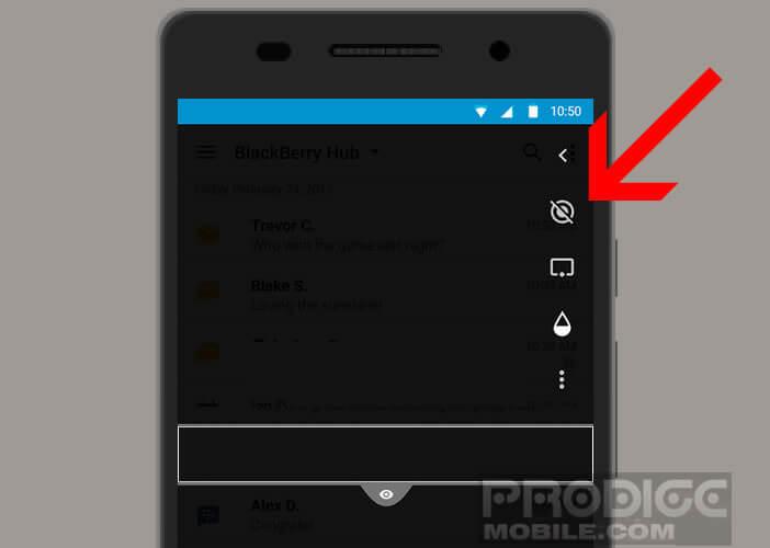 Modifier les paramètres de Blackberry Privacy Shade