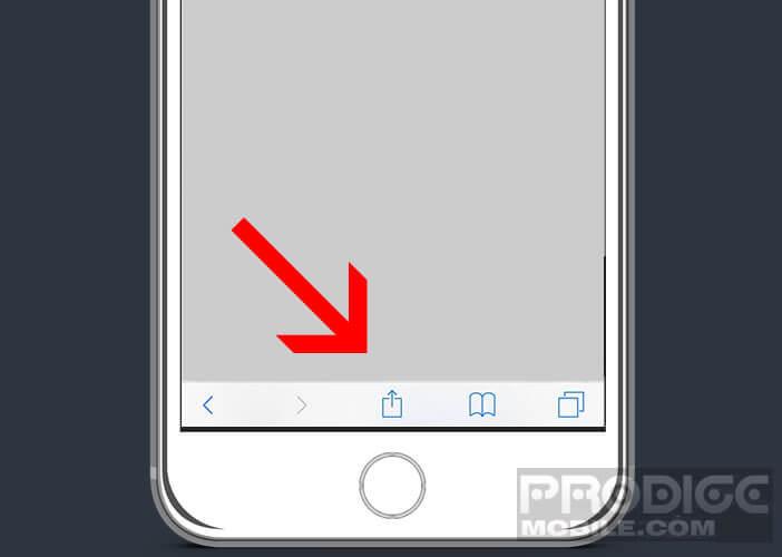 Lancer le téléchargement de votre fichier sur iCloud Drive