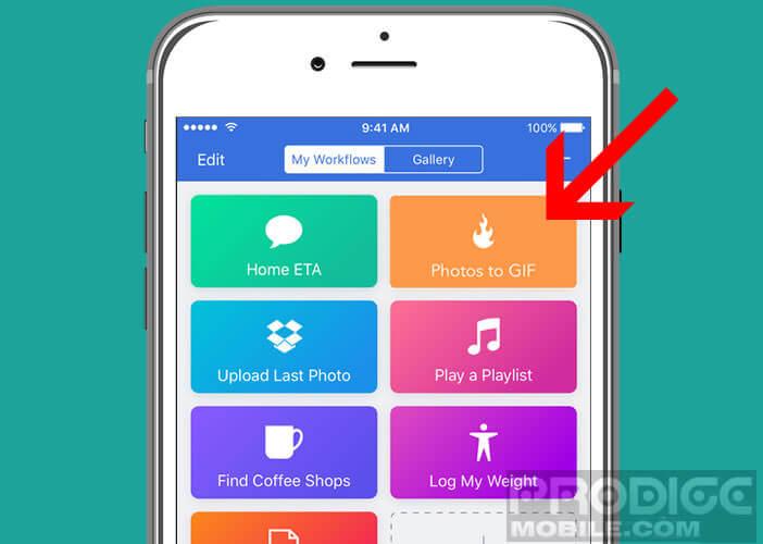 Automatiser le processus de création de gif animés sur un iPhone