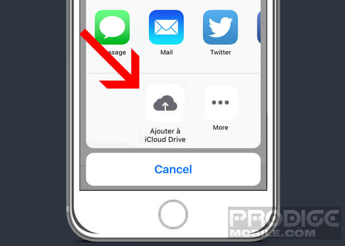 Récupérer votre fichier dans iCloud Drive