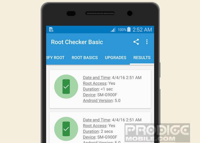 Découvrir le résultat du root sur un smartphone ou une tablette