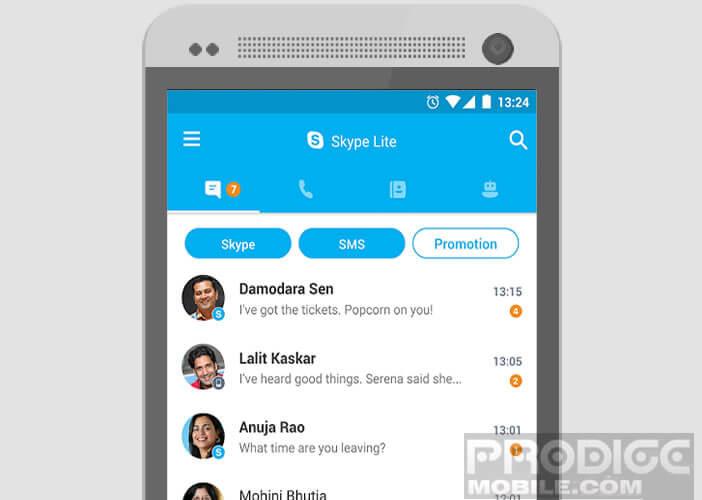 Communiquer par Skype même sur des réseaux limités