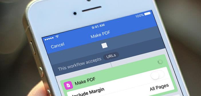 Automatiser vos tâches avec l'application Workflow pour l'iPhone et l'iPad