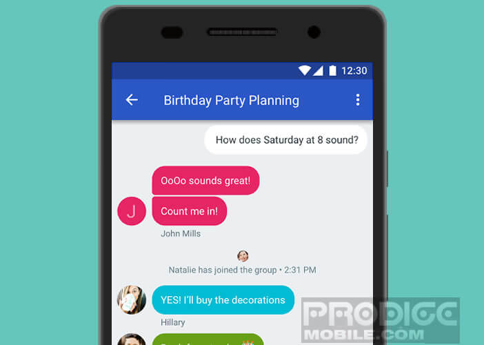 Android Messages: application SMS de Google