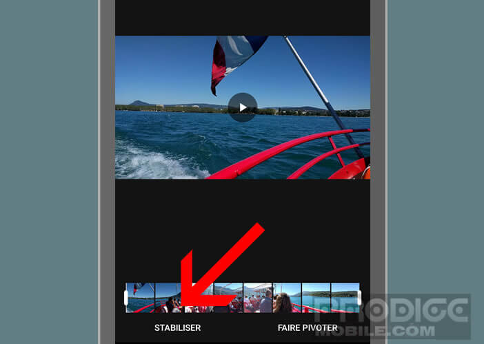 Lancer l'option permettant d'atténuer les vibrations sur votre mobile