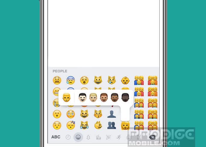 Changer la couleur de la peau des emojis