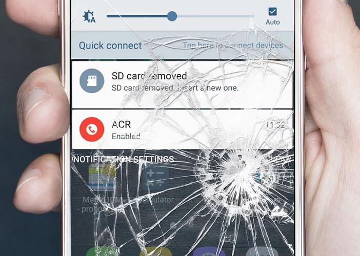 Générer un effet de fausses fissures sur l'écran de votre mobile Android