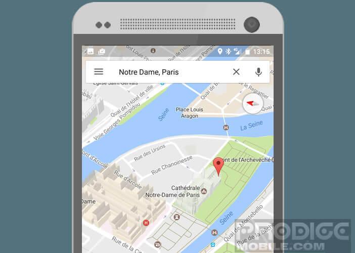 Fonction de modélisation des bâtiments sur un smartphone Android
