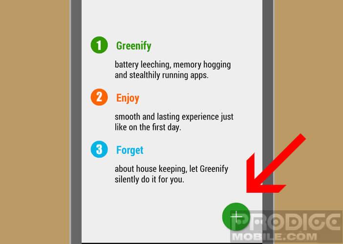 Modifier les paramètres d'accessibilité de votre smartphone pour Greenify