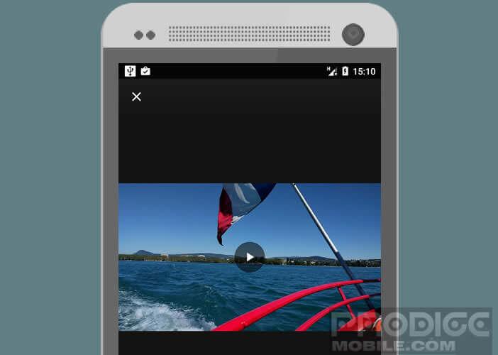Fonction de Google Photos pour supprimer les tremblements sur une vidéo