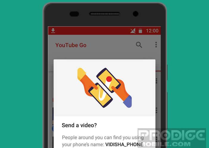 Transférer une vidéo YouTube sur le smartphone d'un ami en Wifi