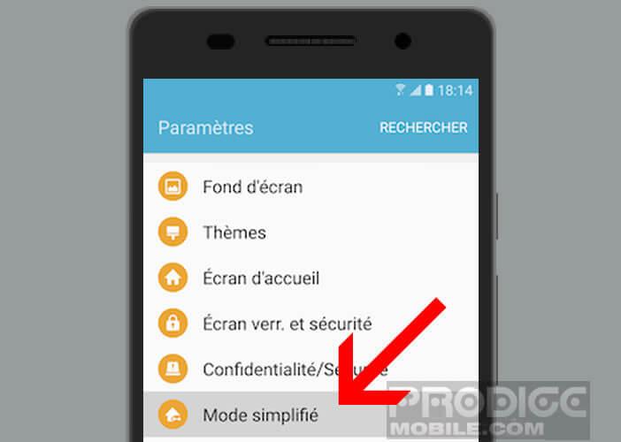 Utiliser plus facilement votre mobile Samsung en activant le mode simplifié