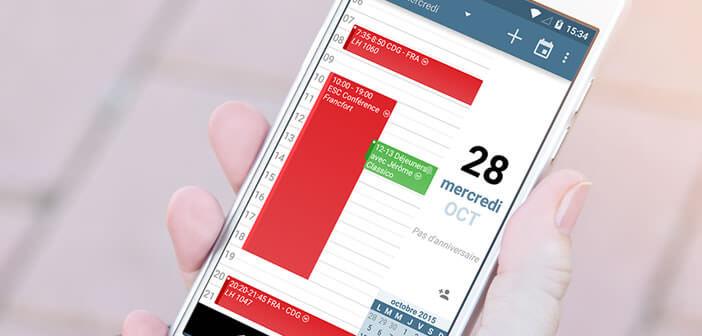 aCalendar: application d'agenda pour les smartphones Android