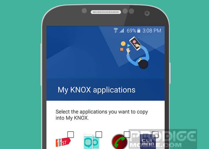Ajouter une application dans la session sécurisé de Knox