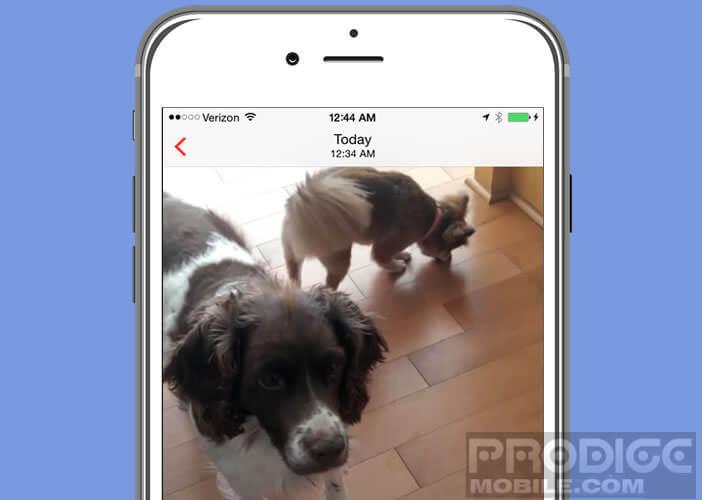 Diffuser une vidéo stockée sur un mobile Apple sur une box ou un dongle HDMI