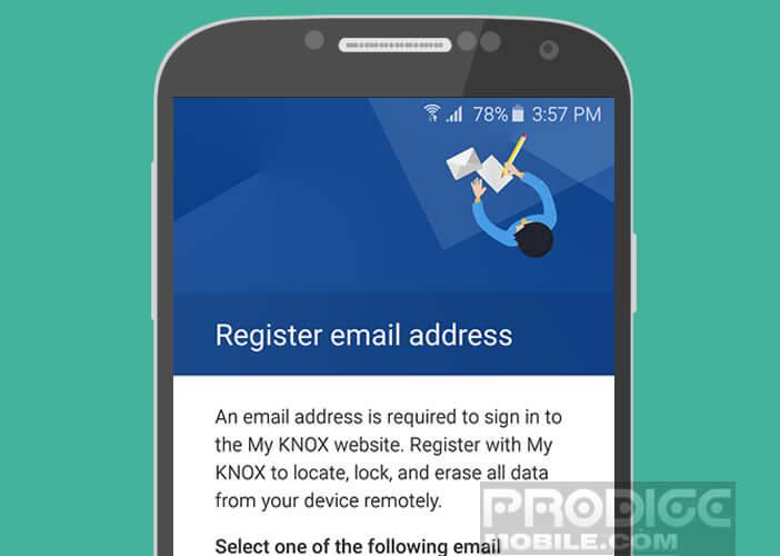 Enregistrer un compte mail sur votre téléphone Samsung