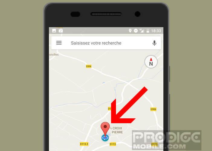 Enregistrer votre position actuelle dans Google Maps avant de quitter votre véhicule