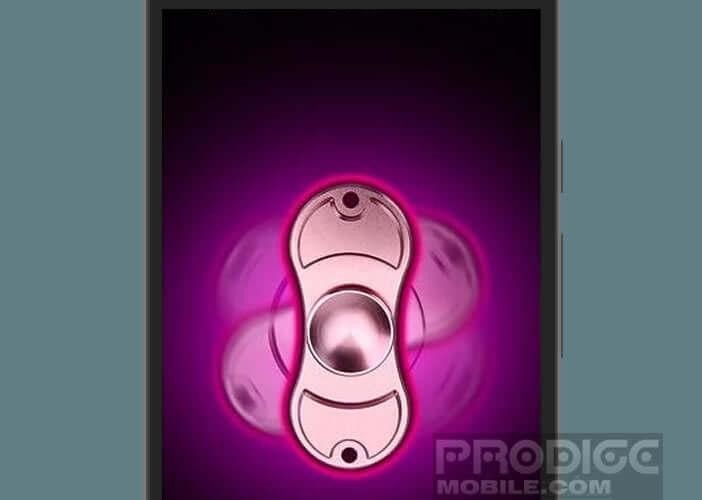 Lanceur laser appli de Fidget Spinner