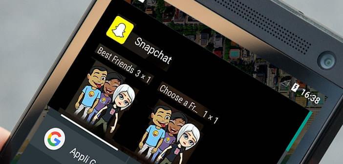 Placez un raccourci vers vos amis Snpachat sur le bureau d'accueil d'Android