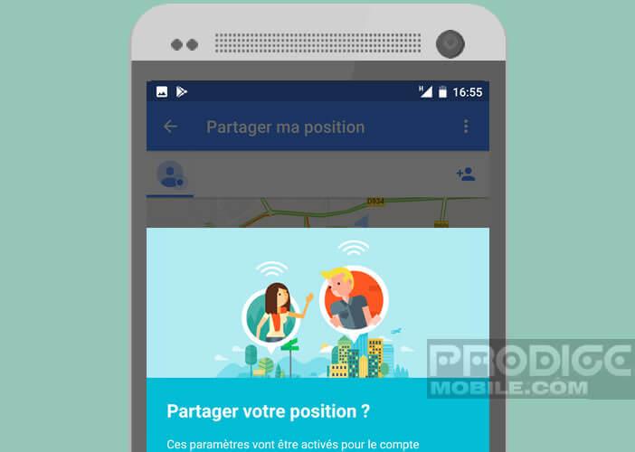 Activer l'option de localisation GPS sur son compte Google