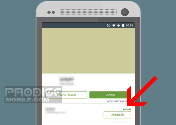 Arrêter le prélèvement automatique d'une offre d'abonnement sur Android