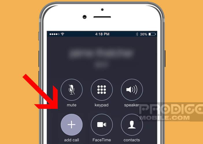Lancer une conférence téléphonique sur un smartphone Apple