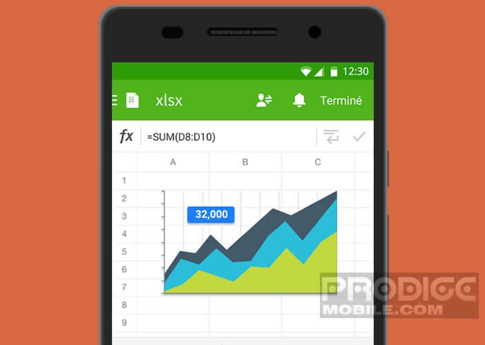Editer une feuille de calcul ou un fichier Excel sur un mobile Android