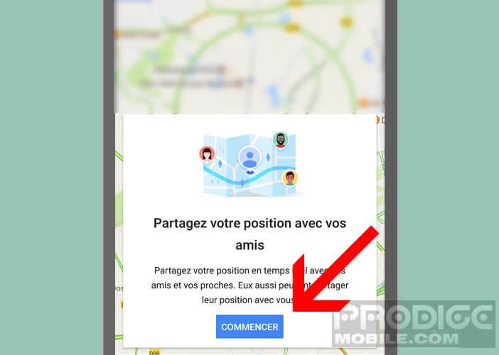 Envoyez des informations sur votre trajet depuis Google Maps