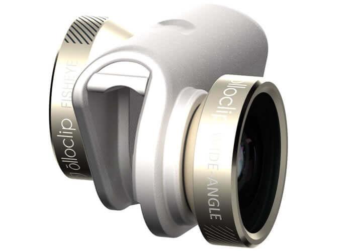 Lentilles Olloclip pour les appareils photos de smartphone