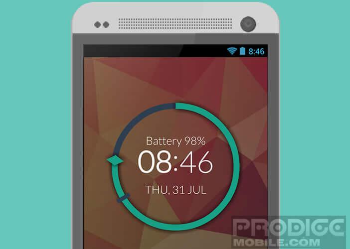 Horloge Android dans le pur style minimaliste