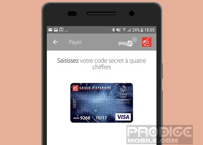 Configurer l'application Caisse d'Epargne pour activer Paylib