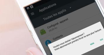 Résilier un abonnement automatique d'une application payante