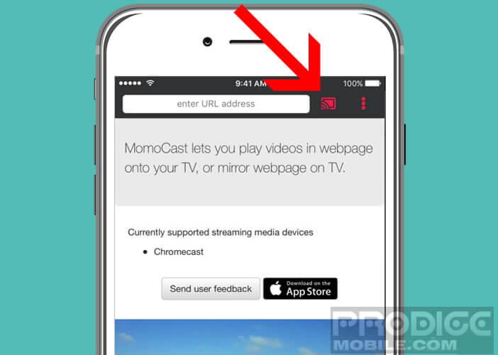 Visionner une vidéo d'une page web sur sa télévision via Safari