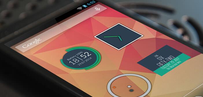 Widget pour personnaliser l'horloge de l'écran de verrouillage