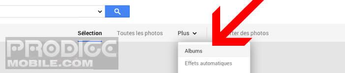 Choisissez un album dans l'interface de Google Plus