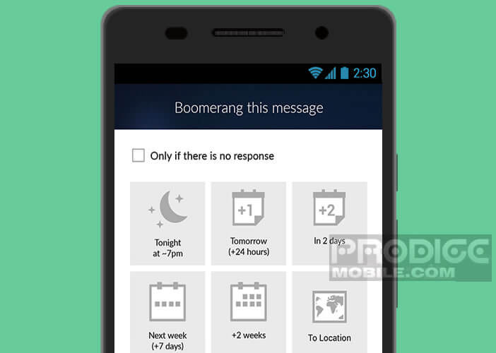 L'application Boomerang permet de programmer ses messages sur Gmail