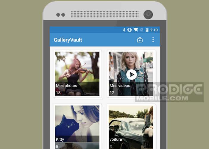 Créer un coffre sécurisé sur votre mobile pour protéger vos photos