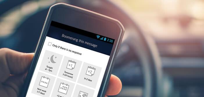 Planifier à l'avance à l'heure d'envoi de vos mails sur Android