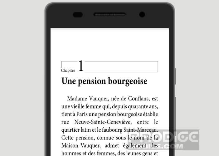 Reader d'ebook gratuit pour smartphone et tablette Android