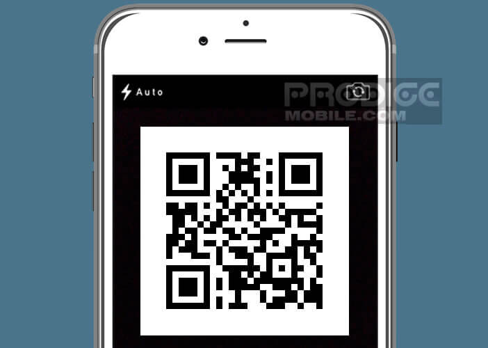 Scanner le code QR en utilisant l'application photo de votre iPhone