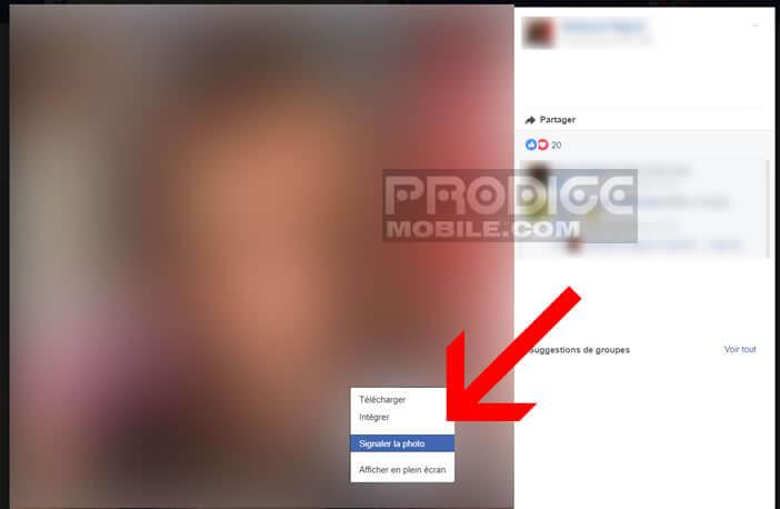 Signaler à Facebook une photo que vous souhaitez supprimer
