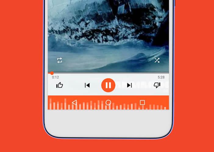 Ajouter un widget musique dans la barre de navigation