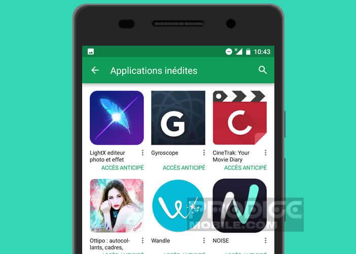 Télécharger une application inédite sur la boutique de Google
