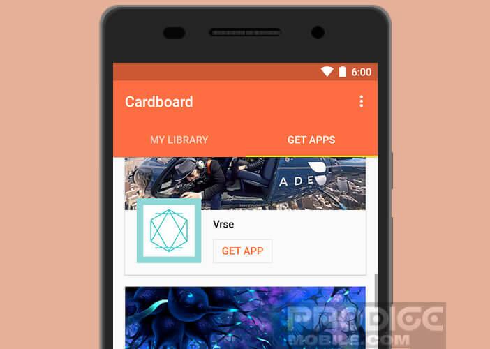 Configurer votre casque VR avec l'application Cardboard de Google