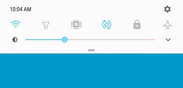 Changer l'affichage du curseur de luminosité du Galaxy S8