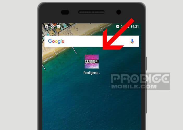 Placer une icône pointant vers une page internet sur le bureau de votre mobile