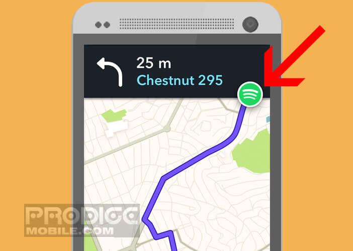 Lancer l'application Spotify depuis votre outil de navigation GPS